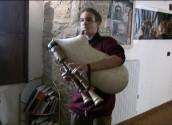 Gabriele Fotia suona la zampogna cerquetana, ricostruita da  Francesco Sabatini - 24 marzo 2013