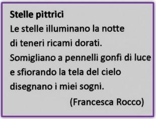 """""""Stelle pittrici"""" di Francesca Rocco I classificato Sezione 2"""