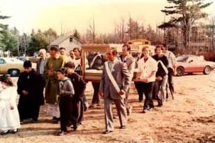 La processione del corpo di San Gabriele