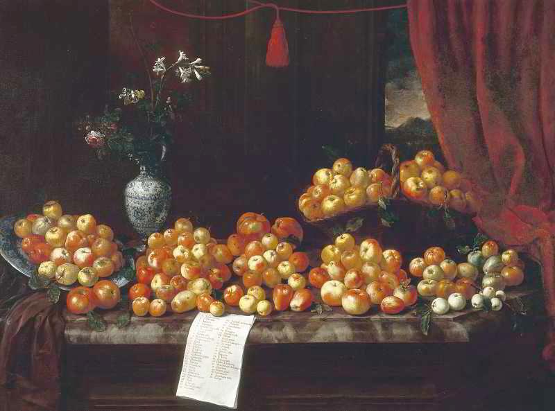 Foto n. 5. Bartolomeo Bimbi, Mele, 1696-1699 Villa Medicea di Poggio a Caiano, Prato.