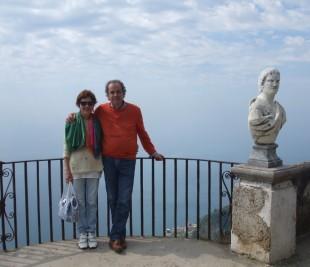 Il Sindaco in carica, Adolfo Moriconi, con sua moglie Rosanna