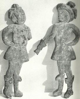 Statuine lignee - (Tradizioni a Cerqueto - Regione Abruzzo -aprile 1983)