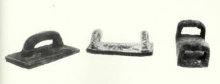 Schiacciapatate in legno e in ceramica - (Tradizioni a Cerqueto - Regione Abruzzo -aprile 1983)